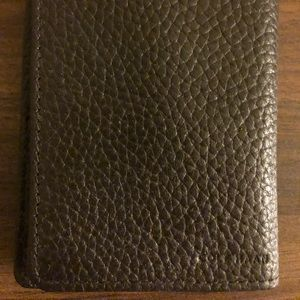 Leather minimalist wallet and money clip
